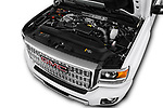 Car stock 2019 GMC Sierra 2500 Denali 4 Door Pick Up engine high angle detail view