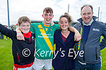 Harry Flaherty O'Dowd, Matthew and Elaine Flaherty with Enda O'Dowd after the County Senior hurling Final between Kilmoyley and Saint Brendan's at Austin Stack park on Sunday.