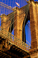 "JP0895 ""Arches of the Brooklyn Bridge At Sunrise #1 6/11/97 - New York NY"