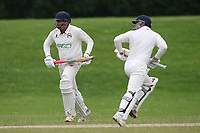 Ardleigh Green add to their total during Ardleigh Green & Havering-Atte-Bower CC (batting) vs Newham CC, Hamro Foundation Essex League Cricket at Central Park on 10th July 2021