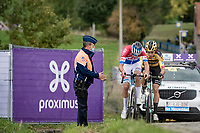 Mathieu Van der Poel (NED/Alpecin-Fenix) & Wout van Aert (BEL/Jumbo - Visma) fighting for the win up the Paterberg<br /> <br /> 104th Ronde van Vlaanderen 2020 (1.UWT)<br /> <br /> 1 day race from Antwerpen to Oudenaarde (BEL/243km) <br /> <br /> ©kramon
