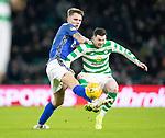 Celtic v St Johnstone…30.01.19…   Celtic Park    SPFL<br />Jason Kerr tackles Oliver Burke<br />Picture by Graeme Hart. <br />Copyright Perthshire Picture Agency<br />Tel: 01738 623350  Mobile: 07990 594431