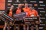 Pre-Race and Warm-Up of Bloomberg Square Mile Relay along Edinburgh Place in the city's central district on 10 November 2016 in Hong Kong, China. Photo by Marcio Machado / Power Sport Images