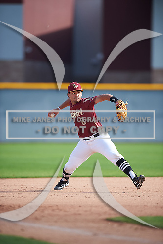 Mykanthony Valdez (8) of Mater Academy Charter High School in Miami Lakes, Florida during the Under Armour All-American Pre-Season Tournament presented by Baseball Factory on January 14, 2017 at Sloan Park in Mesa, Arizona.  (Mike Janes/Mike Janes Photography)