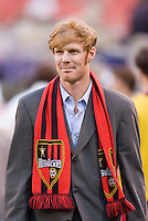 The MetroStars' president and general manager Alexi Lalas. The MetroStars defeated the Los Angeles Galaxy 2 - 1 at Giant's Stadium, East Rutherford, NJ, on July 9, 2005.