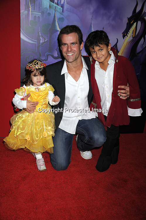 """Cameron Mathison and daughter Leila and son Lucas.arriving at The screening of """"Sleeping Beauty""""  to celebrate the 50th Anniversary  release on 2 Disc Blu-Ray Hi Def DVD on September 28, 2008 at The Chelsea Cinemas. ..Robin Platzer, Twin Images"""