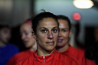 JACKSONVILLE, FL - NOVEMBER 10: Carli Loyd #10 of the United States looks on during a game between Costa Rica and USWNT at TIAA Bank Field on November 10, 2019 in Jacksonville, Florida.