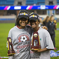 Stanford, CA - December 8, 2019: Madison Haley, Kiki Pickett at Avaya Stadium. The Stanford Cardinal won their 3rd National Championship, defeating the UNC Tar Heels 5-4 in PKs after the teams drew at 0-0.