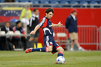 New England Revolution defender Michael Parkhurst (15). The New England Revolution defeated FC Dallas 2-1 during a Major League Soccer match at Gillette Stadium in Foxborough, MA, on June 6, 2008.