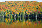 Pond of Safety in Randolph, New Hampshire USA during the autumn months.