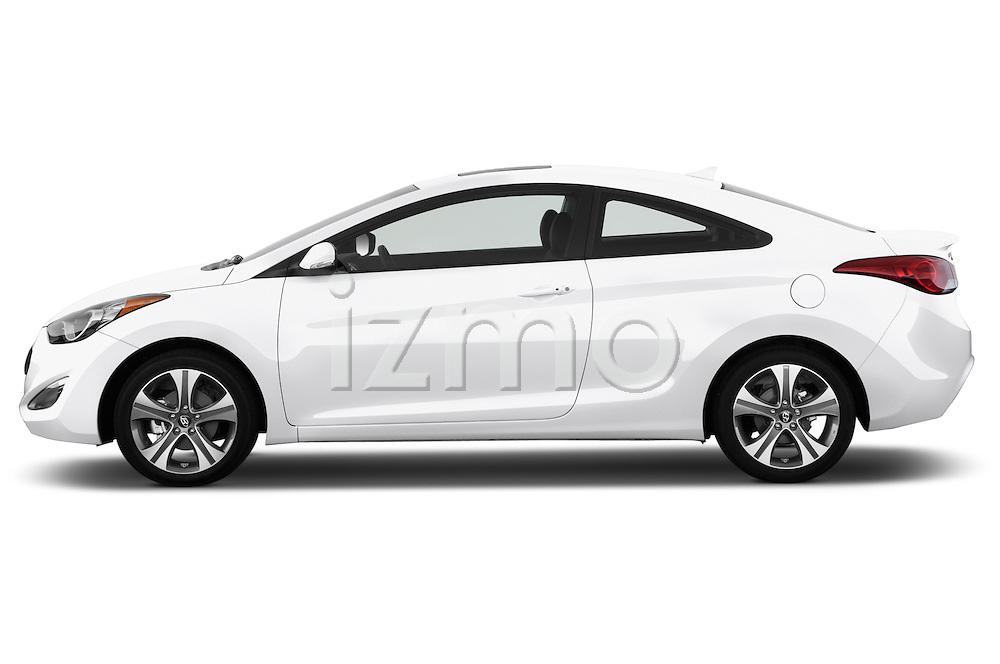 Driver side profile view of a .2013 Hyundai Elantra Coupe
