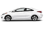 Driver side profile view of a .2013 Hyundai Elantra Coupe