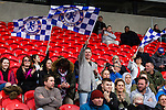 Doncaster Rovers Belles 1 Chelsea Ladies 4, 20/03/2016. Keepmoat Stadium, Womens FA Cup. Chelsea fans celebrate thier teams third goal. Photo by Paul Thompson.
