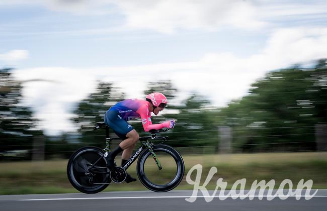 Alberto Bettiol (ITA/EF Education First)<br /> <br /> Stage 4 (ITT): Roanne to Roanne (26.1km)<br /> 71st Critérium du Dauphiné 2019 (2.UWT)<br /> <br /> ©kramon