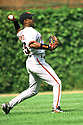 CHICAGO - CIRCA 1998:  Barry Bonds #25 of the San Francisco Giants fields during an MLB game at Wrigley Field in Chicago, Illinois. Bonds played for 22 seasons with 2 different teams, was a 14-time All-Star and was a 7-time National League MVP. (David Durochik / SportPics) --Barry Bonds