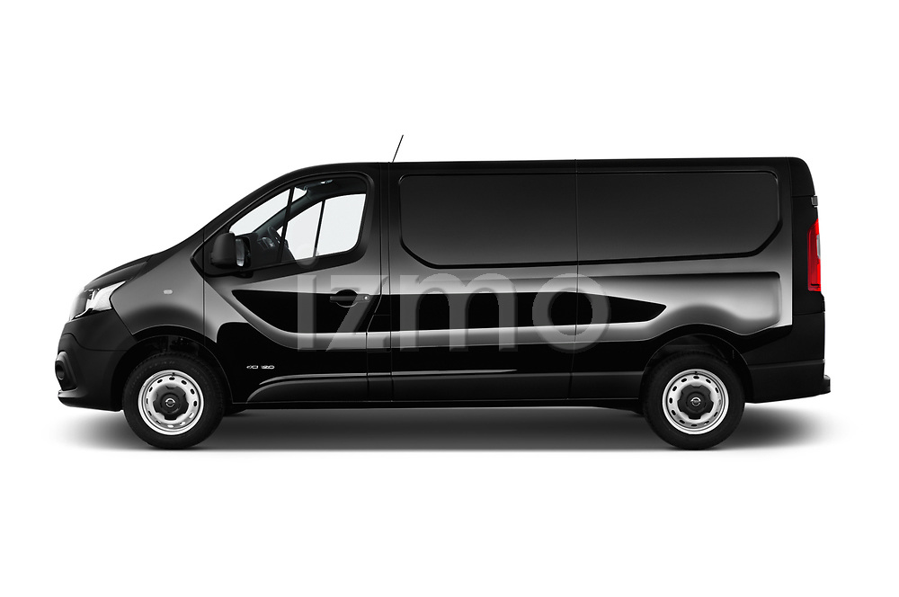 Car Driver side profile view of a 2017 Nissan NV300 Optima 4 Door Cargo Van Side View