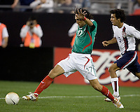 Mexico's Jose Francisco Fonseca reaches for the ball. USA 2, Mexico 0, at the University of Phoenix Stadium in Glendale, AZ on February 7, 2007.
