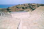 Amphitheater, amphitheatre, Antique theater, Kourion, Episkopi near Limassol, Cyprus, Zypern