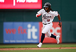 Reno Aces' Henry Ramos runs against the Tacoma Rainiers, in Reno, Nev., on Friday, May 28, 2021. <br /> Photo by Cathleen Allison