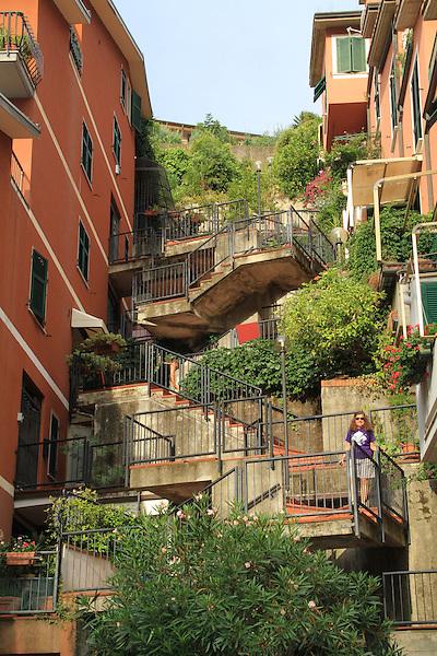 Monterosa, Cinque Terre, Mediterranean Coast, Italy.