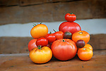 Heirloom Tomatoes Pink Ponderosa, Purple Smudge, German Lunch Box, Black Cherry