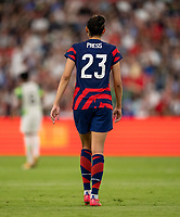 AUSTIN, TX - JUNE 16: Christen Press #23 of the USWNT looks to the ball during a game between Nigeria and USWNT at Q2 Stadium on June 16, 2021 in Austin, Texas.