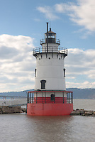 Tarrytown Lighthouse, on the Hudson River near the village of Sleepy Hollow, New York.