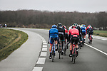 Echelons form during a windy Stage 1 of the 78th edition of Paris-Nice 2020, running 154km from Plaisir to Plaisir, France. 8th March 2020.<br /> Picture: ASO/Fabien Boukla | Cyclefile<br /> All photos usage must carry mandatory copyright credit (© Cyclefile | ASO/Fabien Boukla)