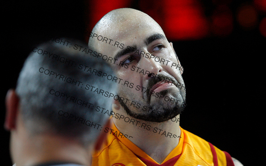 Macedonian Pero Antic reacts during  basketball game for third place between Macedonia (FYROM) and Russia in Kaunas, Lithuania, Eurobasket 2011, Friday, September 16, 2011. (photo: Pedja Milosavljevic)