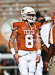 Texas Longhorns wide receiver Jaxon Shipley (8) in action during the game between the Brigham Young Cougars and the Texas Longhorns at the Darrell K Royal - Texas Memorial Stadium in Austin, Texas. Texas defeats Brigham Young 17 to 16...