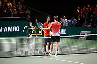 Rotterdam, The Netherlands, 16 Februari 2019, ABNAMRO World Tennis Tournament, Ahoy, Semis, Gael Monfils (FRA) winner - Daniil Medvedev (RUS),<br /> Photo: www.tennisimages.com/Henk Koster