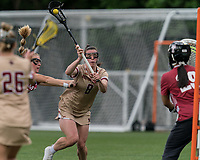 NEWTON, MA - MAY 16: Charlotte North #8 of Boston College scoring effort during NCAA Division I Women's Lacrosse Tournament second round game between Temple University and Boston College at Newton Campus Lacrosse Field on May 16, 2021 in Newton, Massachusetts.