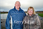 Enjoying a stroll in the Tralee Bay Wetlands on Friday, l to r: Joe and Margaret and Goodall