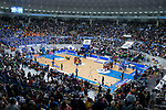 Teddy bears raining at Coliseum Burgos during Liga Endesa match between San Pablo Burgos and Gipuzkoa Basket at Coliseum Burgos in Burgos, Spain. December 30, 2017. (ALTERPHOTOS/Borja B.Hojas)