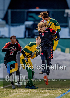 13 November 2019: University of Vermont Catamount Midfielder Daði Bærings Halldórsson, a Junior from Reykjavik, Iceland, in action against the University of Hartford Hawks at Virtue Field in Burlington, Vermont. The Catamounts fell to the visiting Hawks 3-2 in sudden death overtime of the Division 1 Men's Soccer America East matchup. Mandatory Credit: Ed Wolfstein Photo *** RAW (NEF) Image File Available ***
