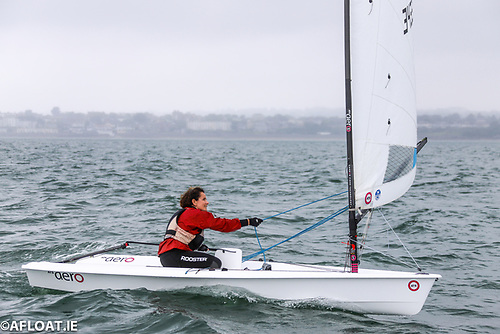 Sarah Dwyer was first female in the event, sailing a very strong series in her RS Aero 5