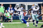 Dallas Cowboys wide receiver Dwayne Harris (17) in action during the pre-season game between the Baltimore Ravens and the Dallas Cowboys at the AT & T stadium in Arlington, Texas. The Ravens lead Dallas 24 to 10 at half time.
