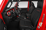Front seat view of a 2020 Jeep Gladiator Rubicon 4 Door Pick Up front seat car photos