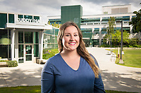 Physical Therapist Assistant program Senior Christine Bishop photographed on UAA's Cuddy Quad.