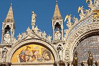Front of Saint Marks Basilica Resurection of Christ Mosaic-  - Venice - Italy