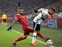 20.02.2018, Allianz Arena, Muenchen, GER, UEFA CL, FC Bayern Muenchen (GER) vs Besiktas Istanbul (TR) , <br />Arturo Vidal (Muenchen), Ricardo Quaresma (Instanbul)<br /><br /><br /><br /> *** Local Caption *** © pixathlon