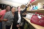 Volunteers, Martha Ikoke and Fola Makun with Una Ryan from The Irish Cancer Society at the Opening of the new Cancer Shop in the Abbey Shopping Centre...Photo NEWSFILE/Jenny Matthews.(Photo credit should read Jenny Matthews/NEWSFILE)....This Picture has been sent you under the condtions enclosed by:.Newsfile Ltd..The Studio,.Millmount Abbey,.Drogheda,.Co Meath..Ireland..Tel: +353(0)41-9871240.Fax: +353(0)41-9871260.GSM: +353(0)86-2500958.email: pictures@newsfile.ie.www.newsfile.ie.FTP: 193.120.102.198.