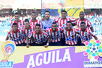 BARRANQUILLA - COLOMBIA ,13-07-2019: Formación del  Atlético Junior   ante el  Deportes Tolima  durante partido por la fecha 1 de la Liga Águila II 2019 jugado en el estadio Metropolitano Roberto Meléndez de la ciudad de Barranquilla . / Team of Atletico Junior agaisnt of Deportes Tolima during the  match for the date 1 of the Liga Aguila I 2019 played at Metropolitano Roberto Melendez Satdium in Barranquilla City . Photo: VizzorImage / Alfonso Cervantes / Contribuidor.
