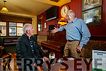 Mike Lynch, Causeway enjoying a pint in Bettys Bar chatting to Sean Fuller proprietor