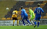 Motherwell v St Johnstone...10.11.10  .Nick Blackman scores his first goal.Picture by Graeme Hart..Copyright Perthshire Picture Agency.Tel: 01738 623350  Mobile: 07990 594431