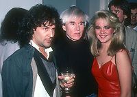 Billy Squire Andy Warhol and Cornelia Guest 1983<br /> Photo By Adam Scull/PHOTOlink.net