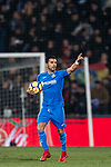 Angel Luis Rodriguez Diaz of Getafe CF celebrates after scoring his goal during the La Liga 2017-18 match between Getafe CF and Athletic Club at Coliseum Alfonso Perez on 19 January 2018 in Madrid, Spain. Photo by Diego Gonzalez / Power Sport Images