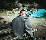 Sabsali, 14, aus Baglan, Afghanistan, am 5.3.2020 in Skala Sykamneas angekommen, Lesbos, Griechenland