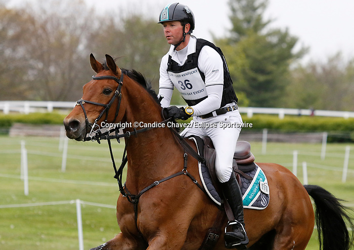 April 24, 2021: #36 Scuderia 1918 Don Quidam and rider Kevin McNab in the Cross Country test at the Land Rover Three Day Event at the Kentucky Horse Park in Lexington, KY on April 24, 2021.  Candice Chavez/ESW/CSM