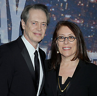 NEW YORK, NY - FEBRUARY 15: Steve Buscemi, Jo Andres attends the SNL 40th Anniversary Celebration at Rockefeller Plaza on February 15, 2015 in New York City.<br /> <br /> People:  Steve Buscemi, Jo Andres